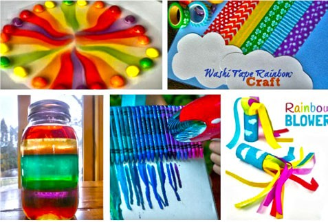 15 Creative Rainbow Crafts For Kids