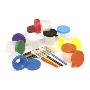 Paint Cups and Brushes Set