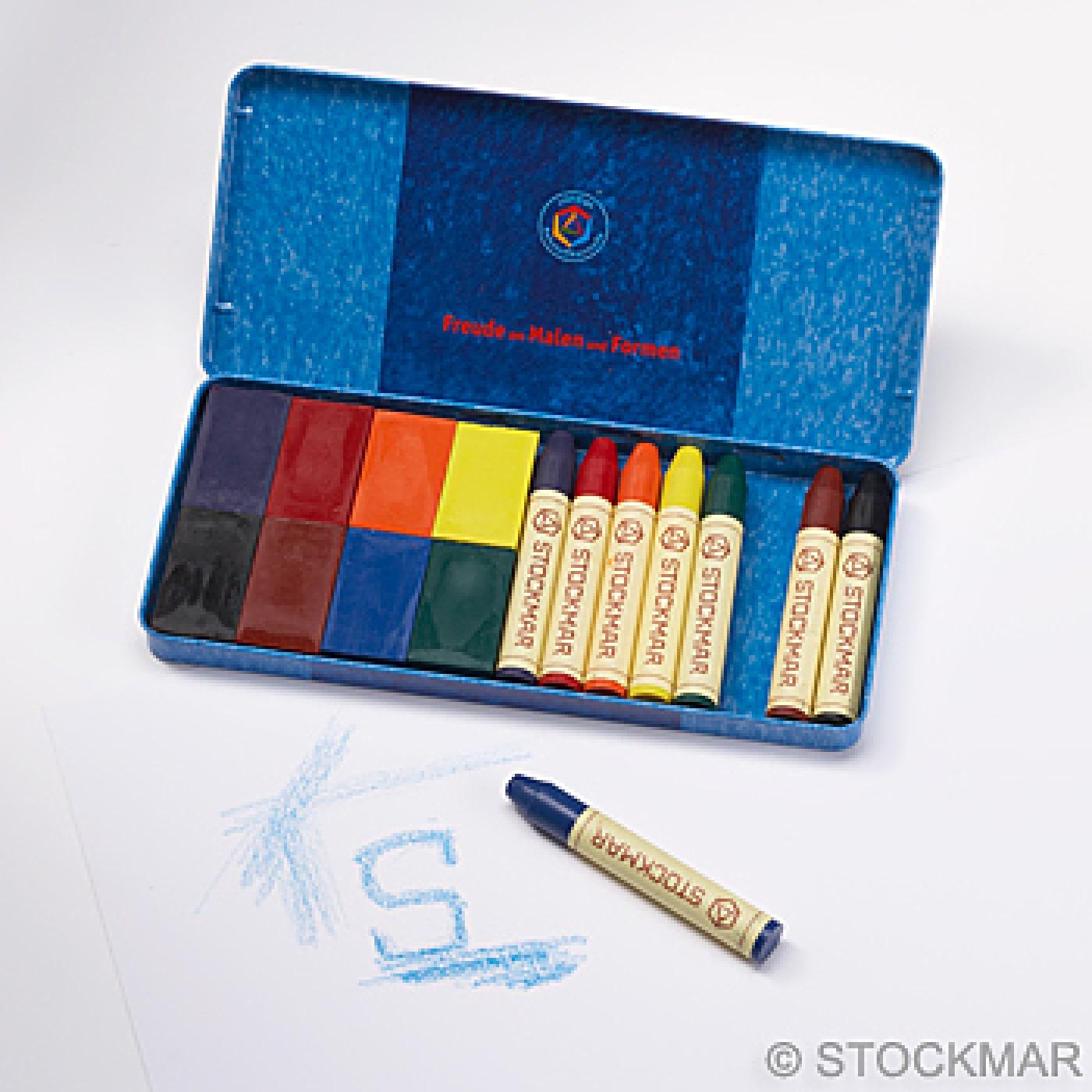 Stockmar Beeswax Crayons - 8 Sticks + 8 Blocks