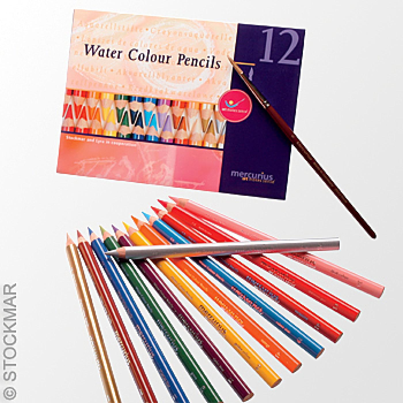 Stockmar Water Color Pencils - 12 Asst Colors