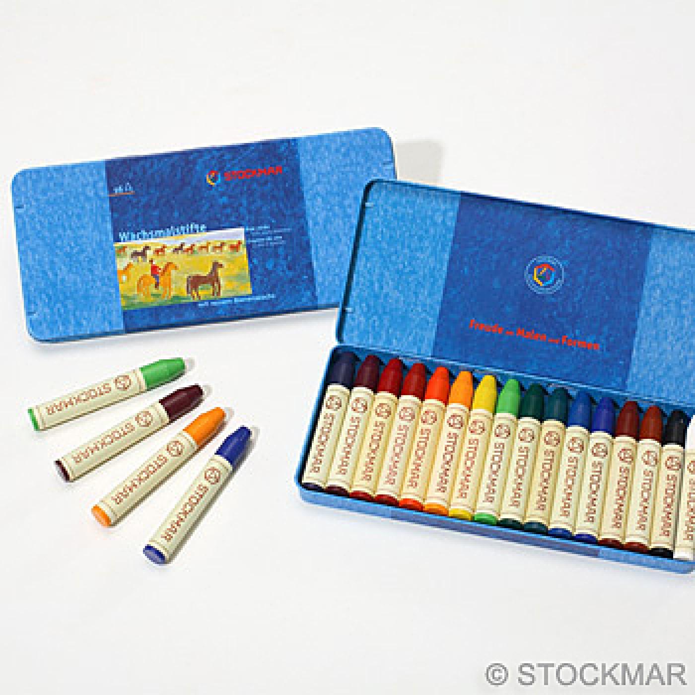 Stockmar Wax Stick Crayons - 16 Asst Colors