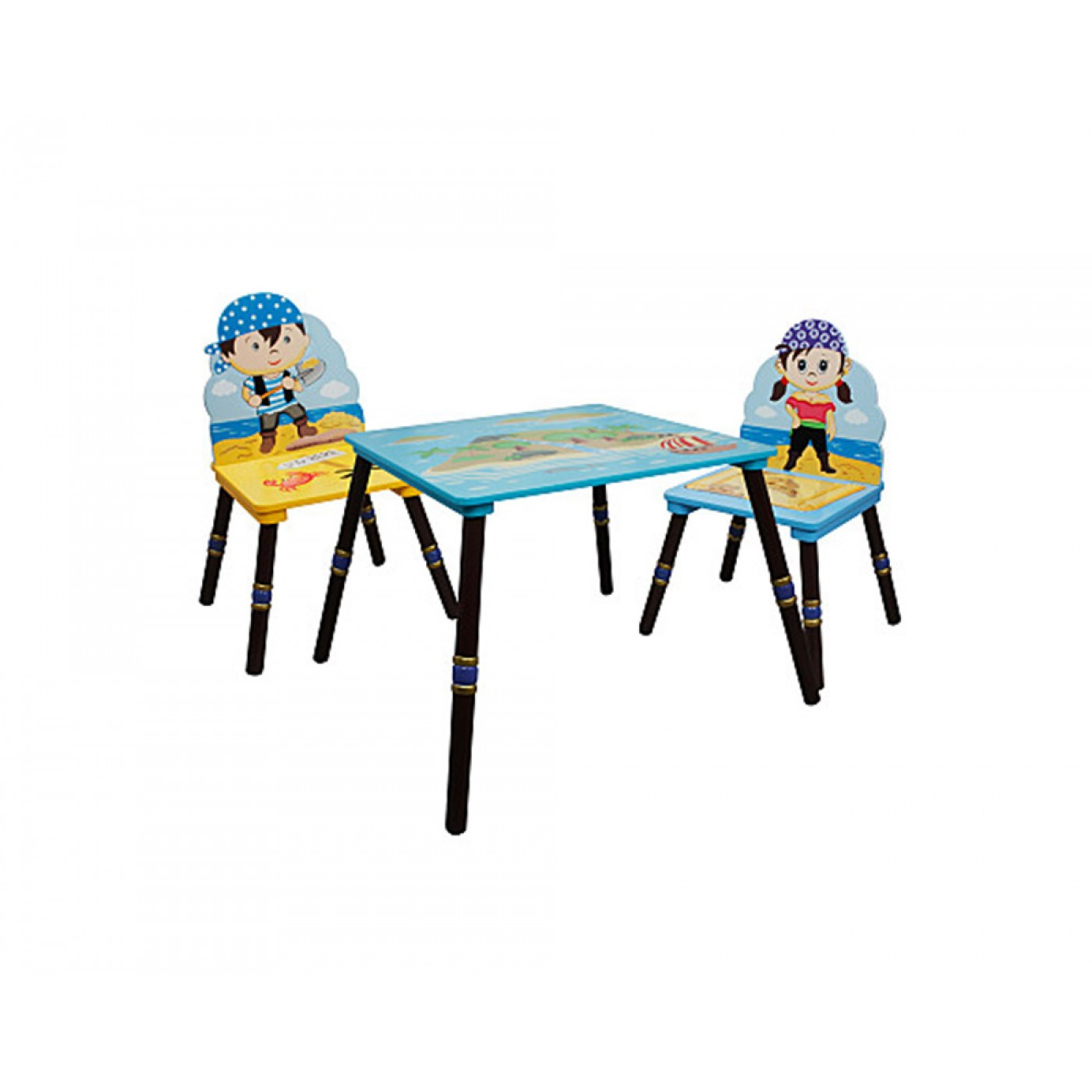 Fantasy Fields - Pirate Island Table & Set of 2 Chairs - B