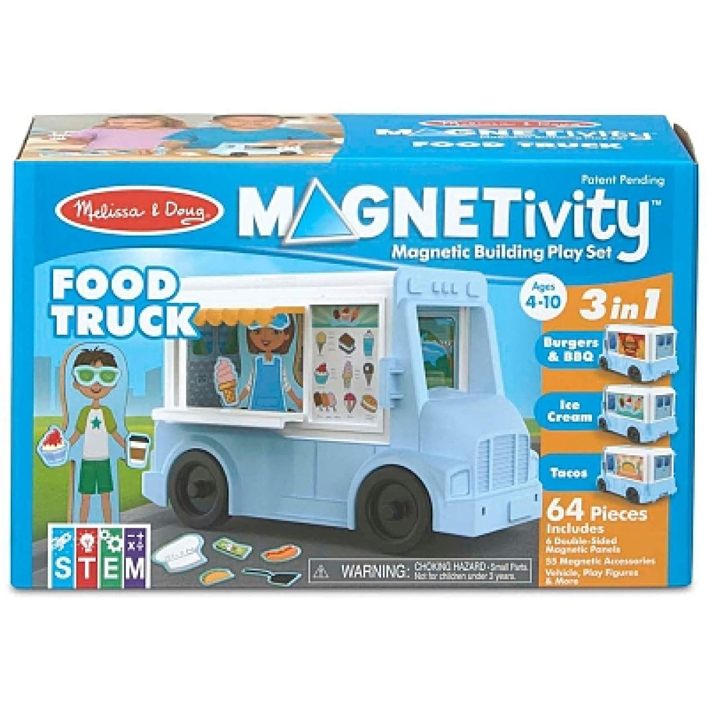 Building Play Set Food Truck Magnetivity