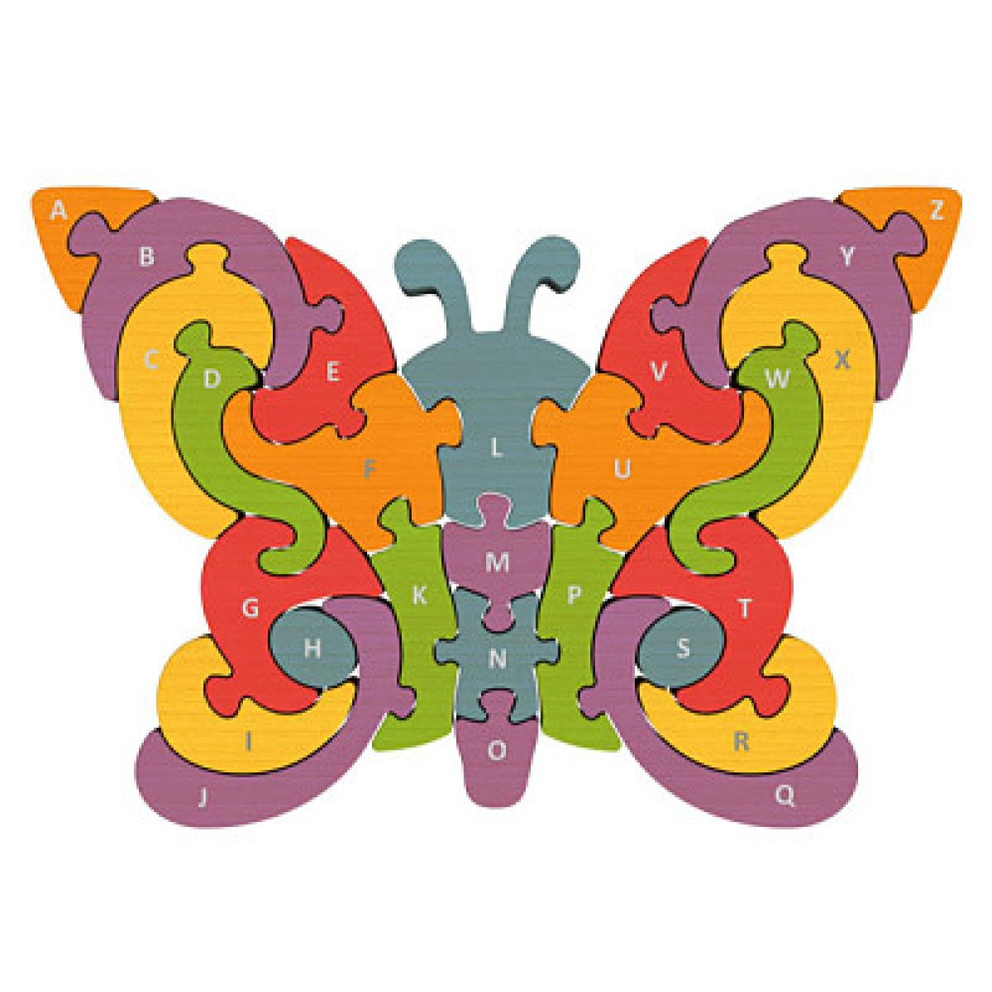 Begin Again Toys Butterfly A to Z Puzzle