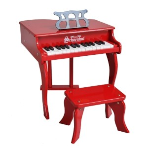 Classic Baby Grand Piano 30-Key - Red