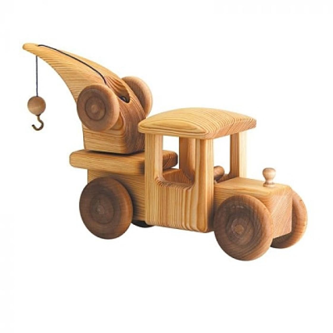 Debresk Wooden Toy Breakdown Crane Large