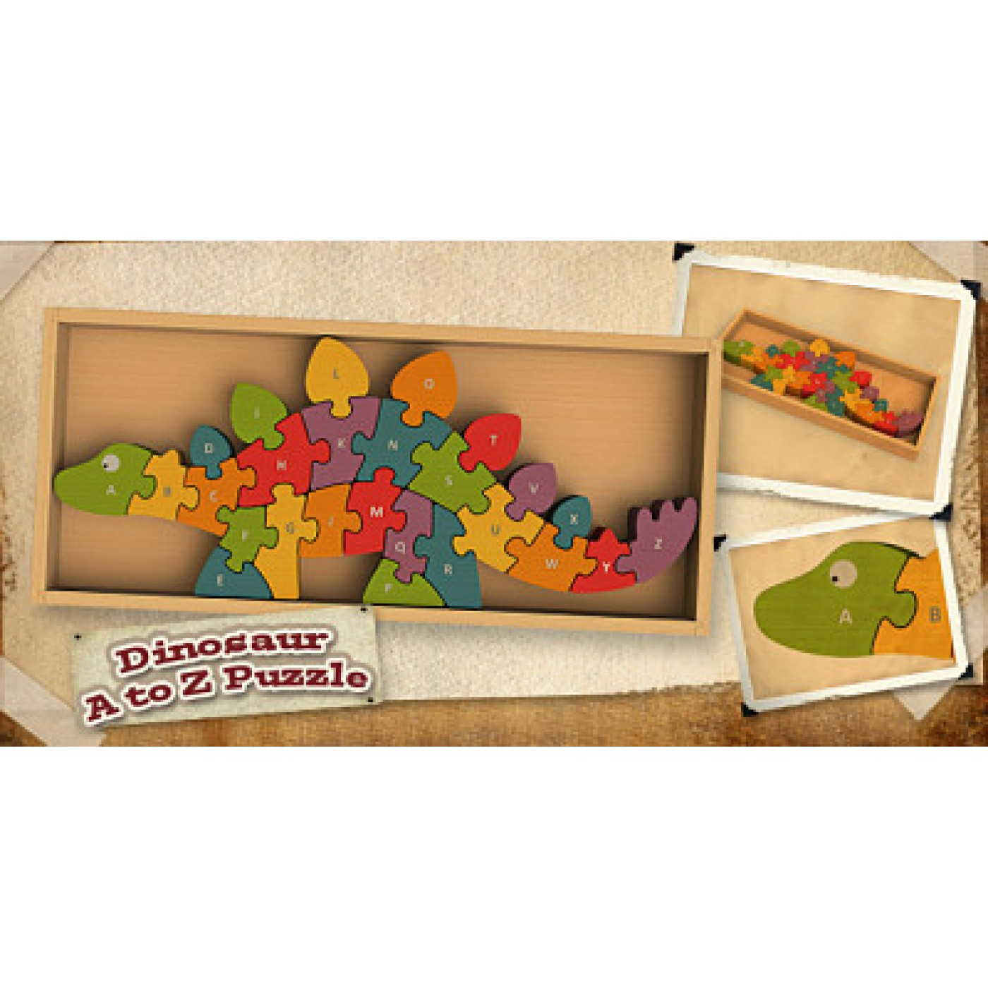 Begin Again Toys Dinosaur A to Z Puzzle