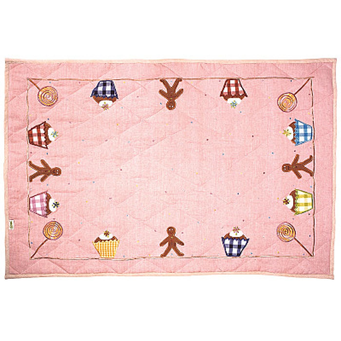 Gingerbread Cottage Floor Quilt - Large