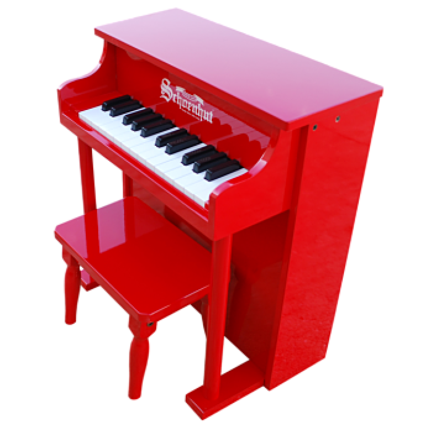 Traditional Spinet Piano 25-Key - Red