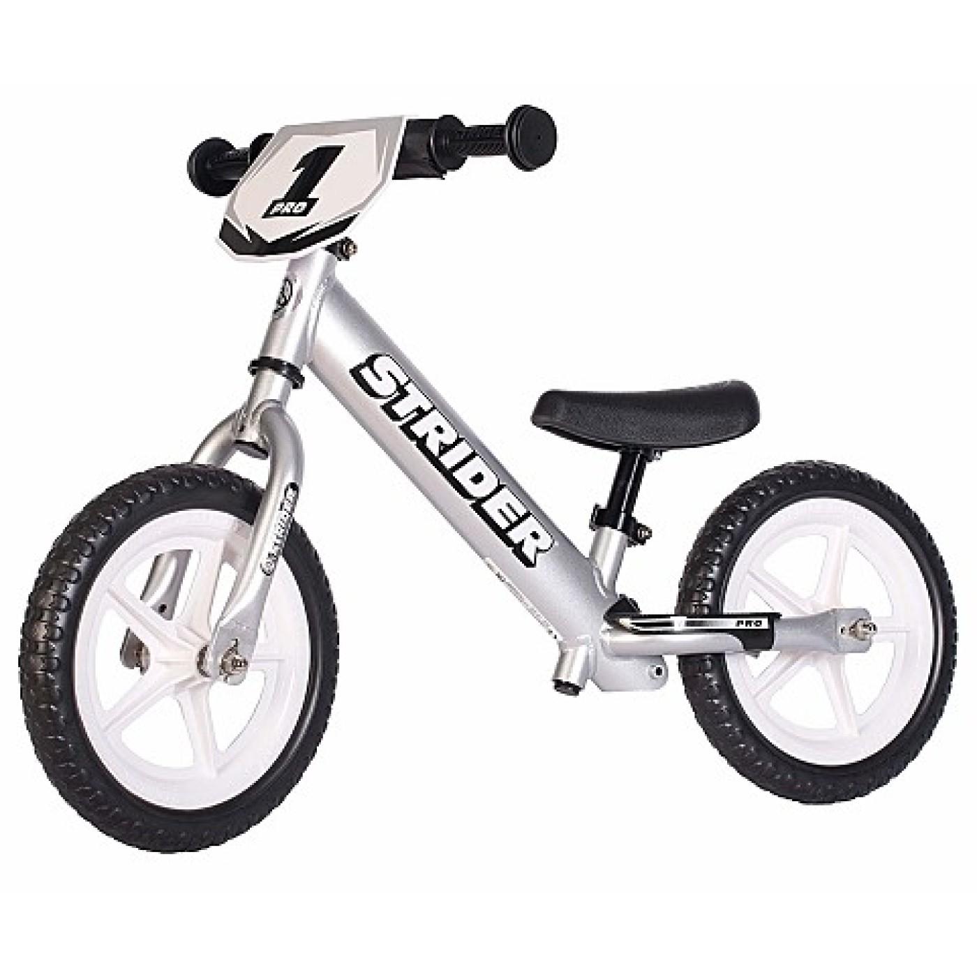 Strider 12 Pro Balance Bike - Silver