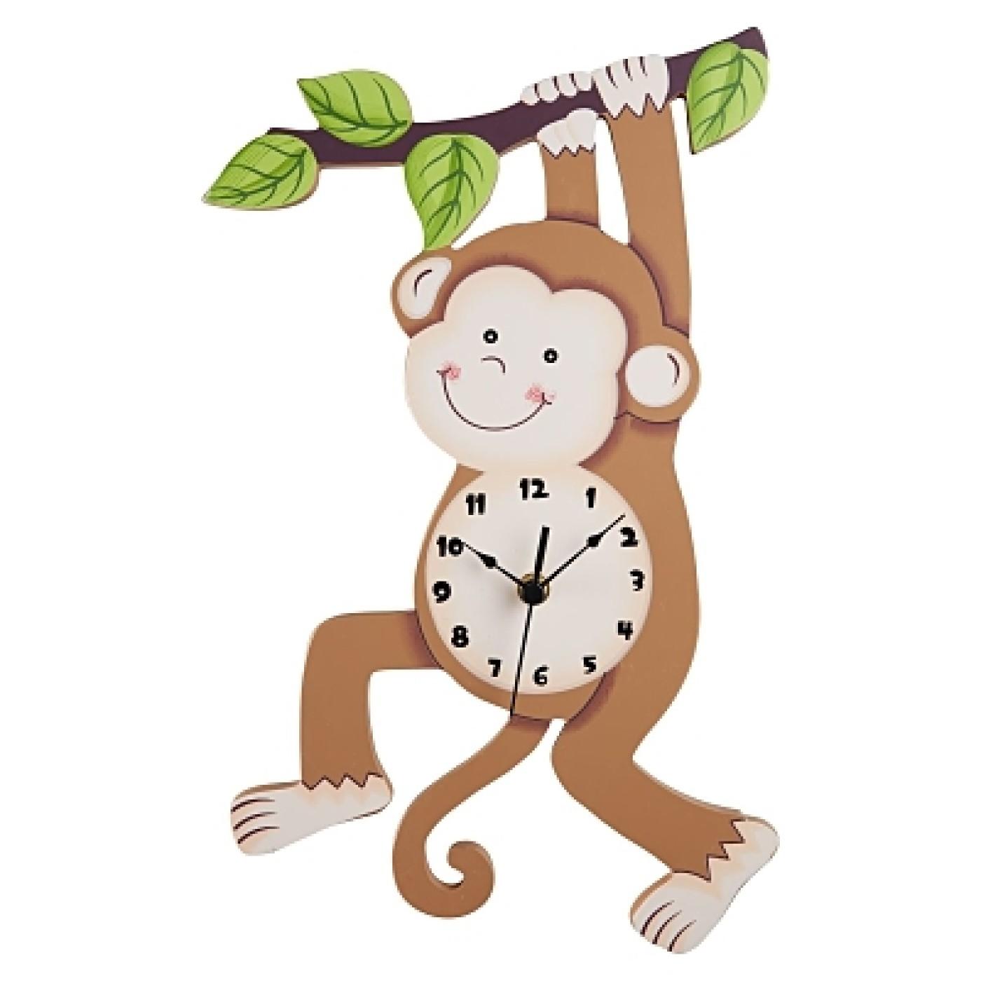 Sunny Safari Monkey Wall Clock
