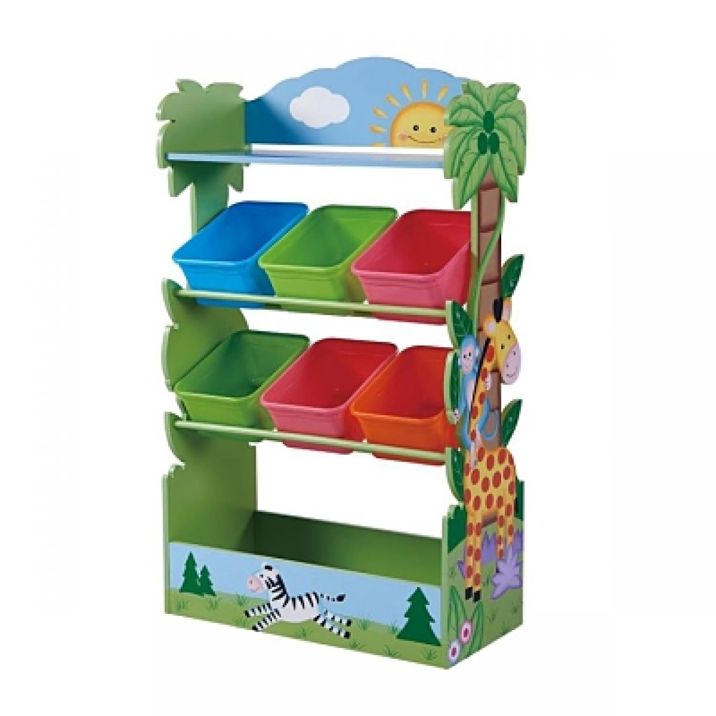 Sunny Safari Toy Organizer with Bins
