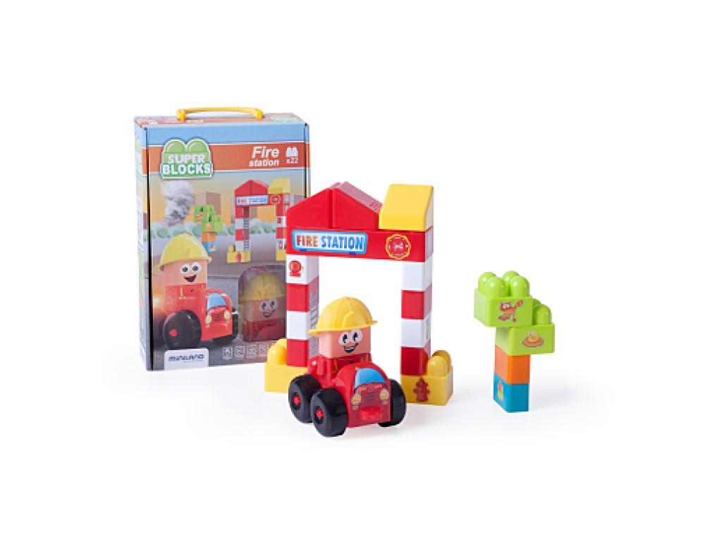 Super Blocks - Fire Station 22 Pcs