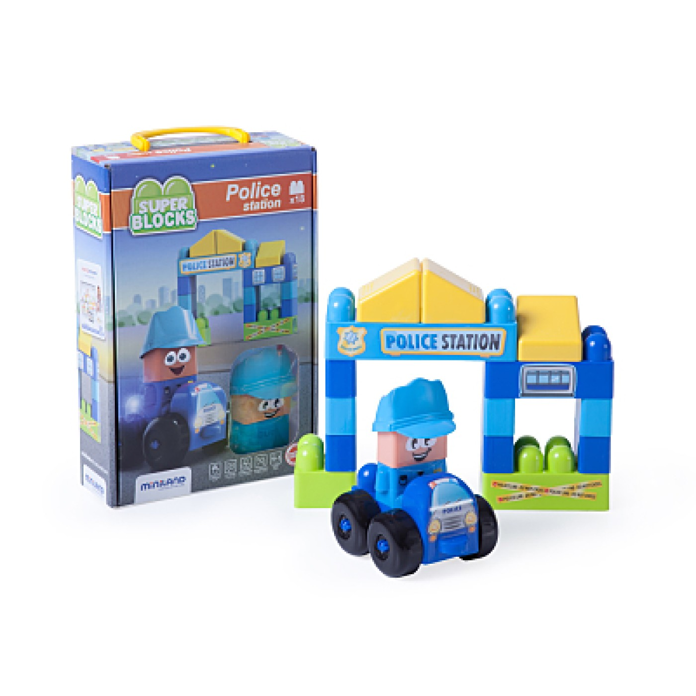 Super Blocks - Police Station 18 Pcs